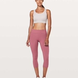 Lululemon Speed Up Crops 4 Moss Rose